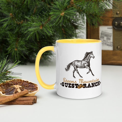 Steens Mountain Guest Ranch Kiger Mustang - Mug with Color Inside