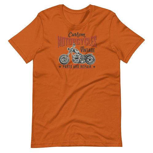Custom Classic Motorcycles Parts and Repair - Short-Sleeve Unisex T-Shirt