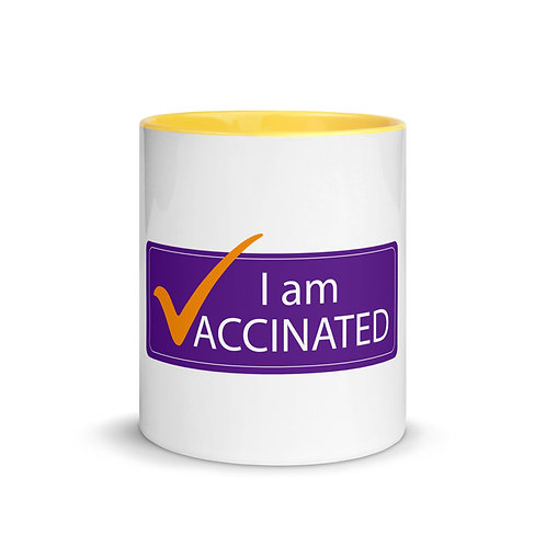 I am Vaccinated - VAXXED - Mug with Color Inside