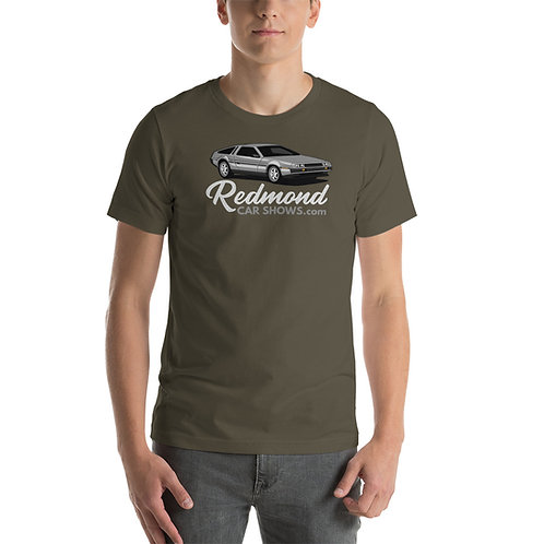 Back to the Future Delorean Redmond Car Shows - Short-Sleeve Unisex T-Shirt