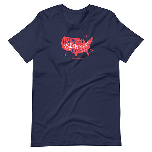 Happy Independence Day - Redmond, Oregon - Short-Sleeve Unisex T-Shirt