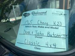 1965 CHEVY K20 TRUCK - DANA AND JOHN BUTCHER