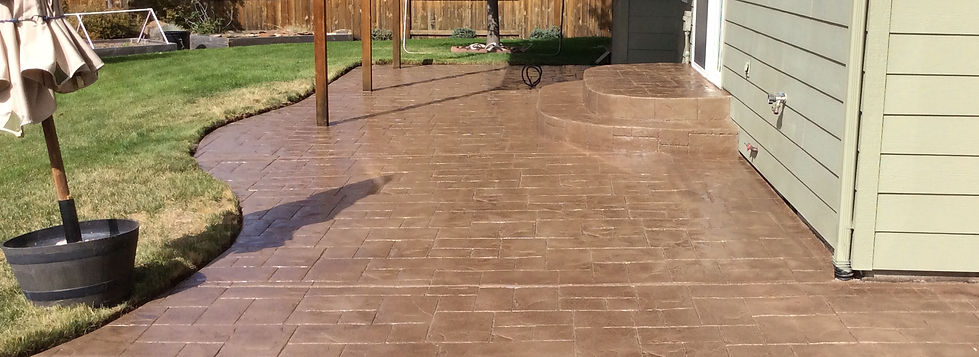 Stamped concrete repairs bend oregon