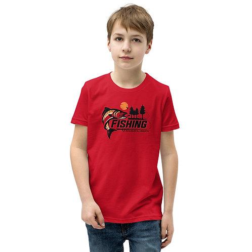 RDM ORE - Redmond, Oregon - Fishing - Youth Short Sleeve T-Shirt