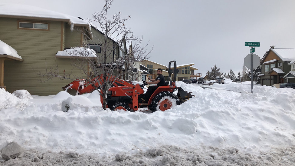 Snow Removal at Triple R Moving in Bend, OR