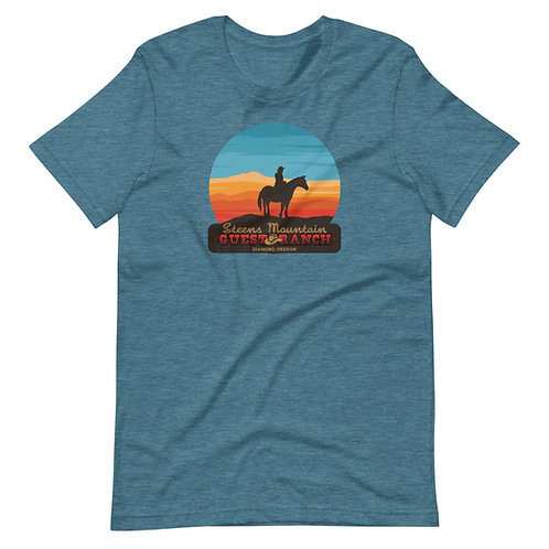 Steens Mountain Guest Ranch Ride into the Sunset - Short-Sleeve Unisex T-Shirt