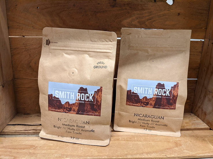 Smith Rock Coffee Nicaraguan- Medium Roast- Bright, Nutty, Aromatic 12 OZ