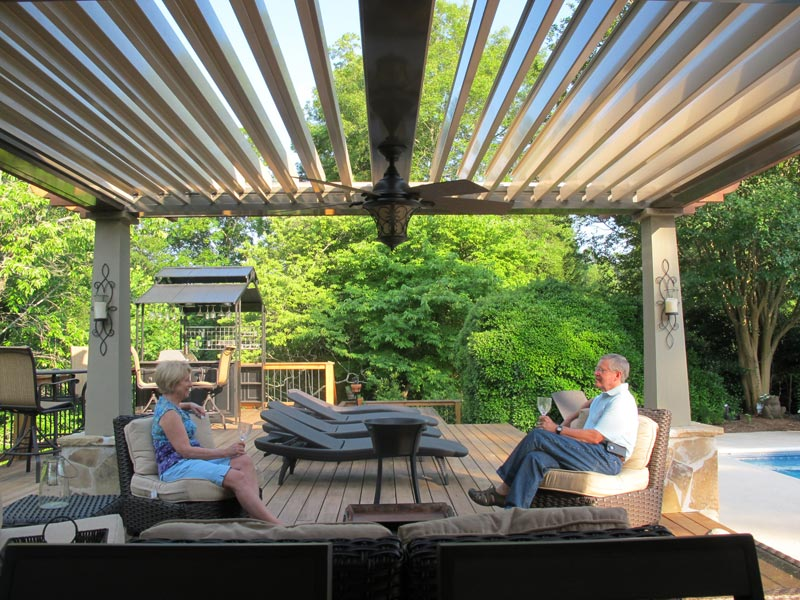 Louvered Patio Covers Bend Or Shade On Demand