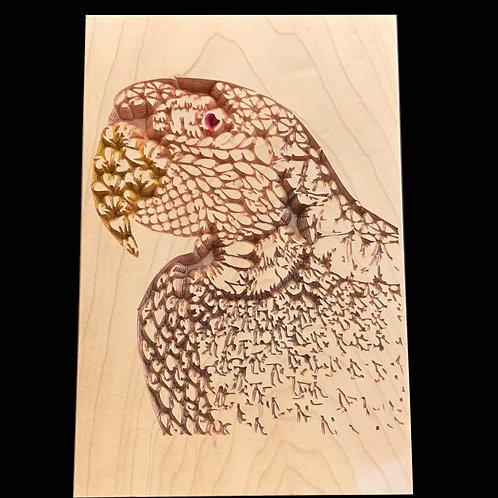 Zentangle Parrot plaque