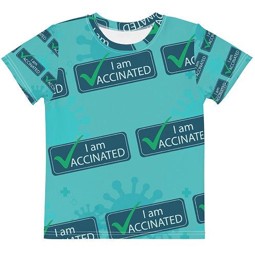 I am Vaccinated - VAXXED - Kids crew neck t-shirt