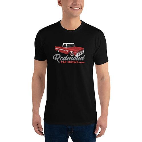 Redmond Car Shows - Red Chevy Truck - Short Sleeve T-shirt