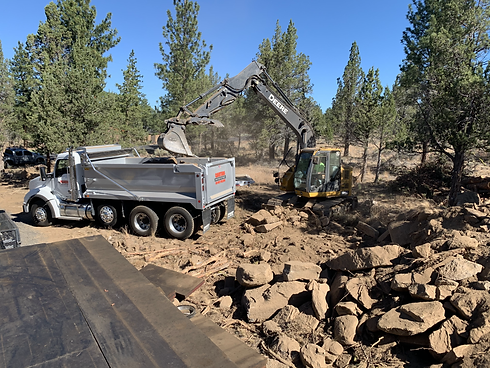 Excavation Company in Redmond, Oregon rock clearing