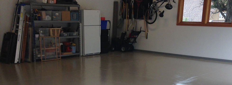 Repair garage floor concrete sealing