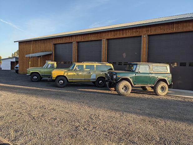 International Harvester Scout Travelal at 406 garage in Bend, Oregon