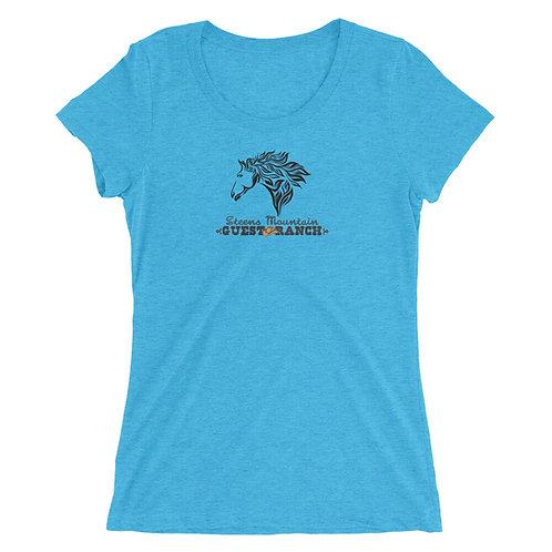 Steens Mountain Guest Ranch Artist Head Horse - Ladies' short sleeve t-shirt
