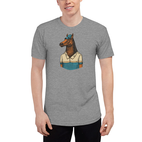 Why such a long face? Unisex Tri-Blend Track Shirt