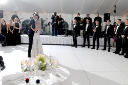 White Wedding Dance Floor, White Band Stand