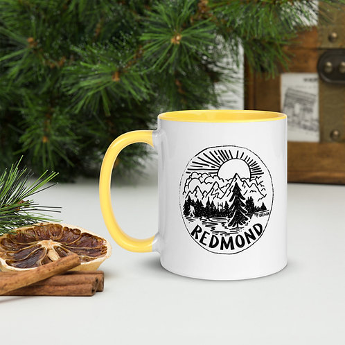 Sasquatch in Nature - Mug with Color Inside