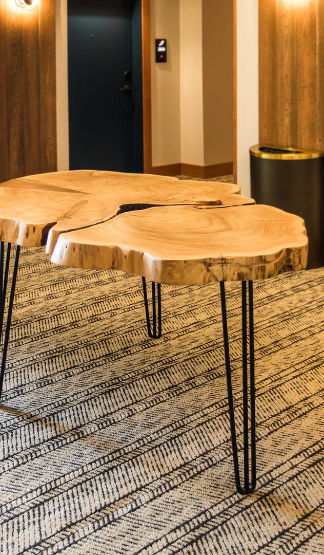 CEDAR ROUND LIVE-EDGE TABLES