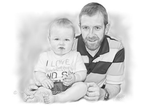 Son and Father Portrait