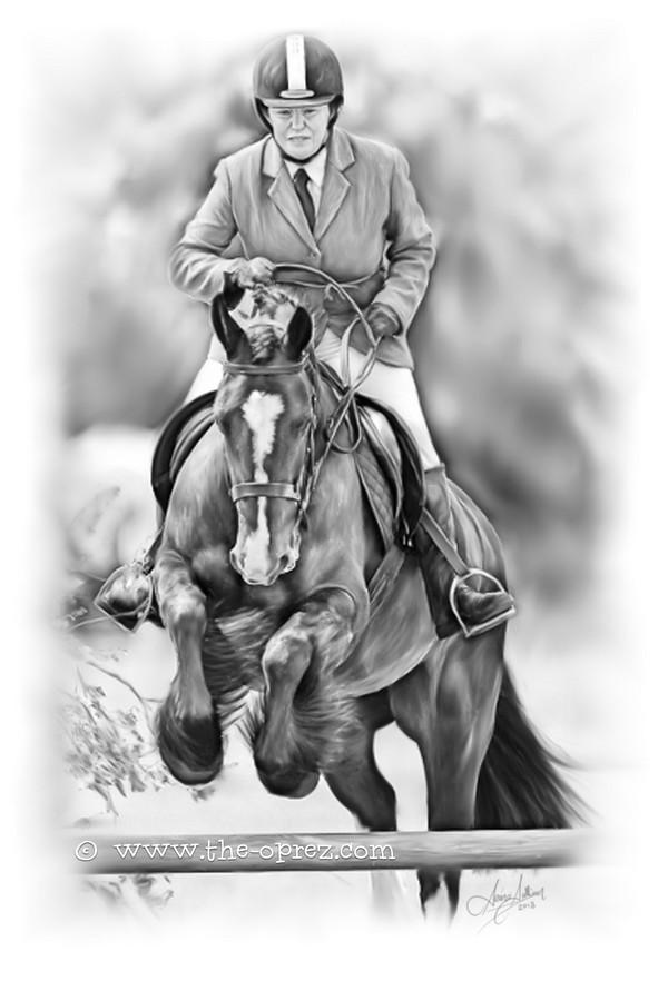 Horse and Jockey Portrait