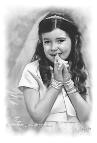 Child On Her Communion Day Portrait