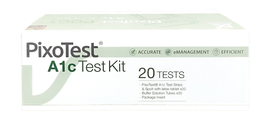 Pixo Test POCT A1C Test Kit  糖化血紅素試紙(20片)