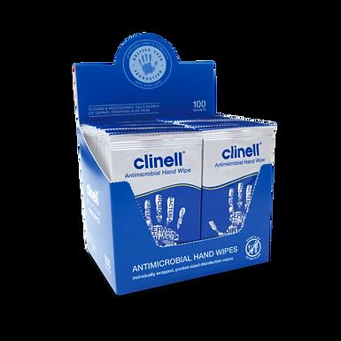 Clinell 無酒精清潔消毒濕紙巾 (20片包裝) & 100片包裝)