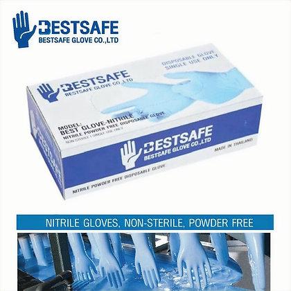 BestSafe Non-Sterile Nitrile Powder Free Disposable Gloves