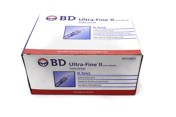 BD 胰島素針筒連針頭