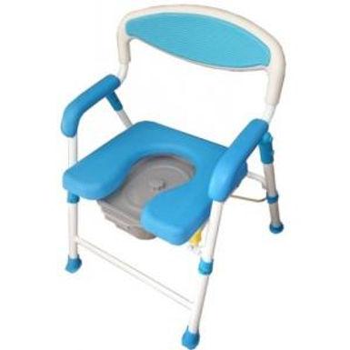 台灣 U型摺合式靠背沐浴便椅(可調高)