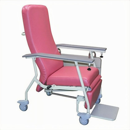 有輪輕巧型傾斜式高背椅 (淡紅色)