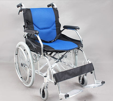 MCF 863L-20 鋁合金可摺專業型輪椅 <升級版>膠腳踏防刮腳
