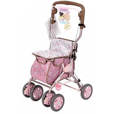 日本「特高步」 - 助行手推車 | 粉紅碎花