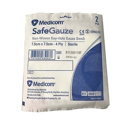 Medicom Y型無菌消毒紗布7.5cmx7.5cm (2'S/50包袋)