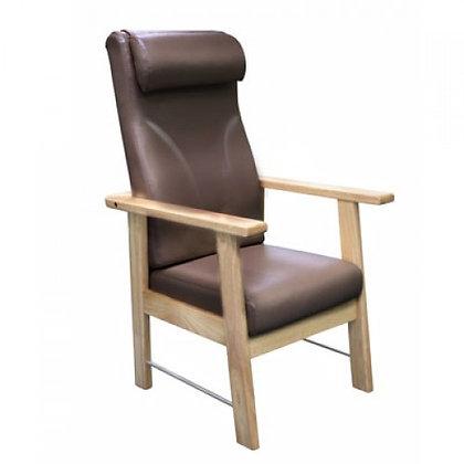 C09 原木高背椅 (連餐桌板)