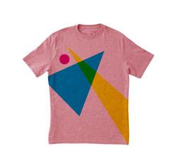 Geometric Shapes Pink Print T-Shirt