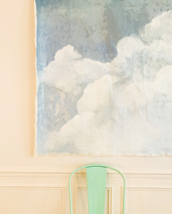 Faux ciel - peinture à l'huile