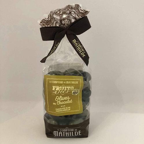 """Olives en chocolat """" Comptoir de Mathilde """""""