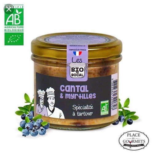 Tartinable bio au cantal et myrtilles