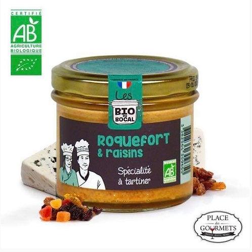 Tartinable bio au roquefort et raisins