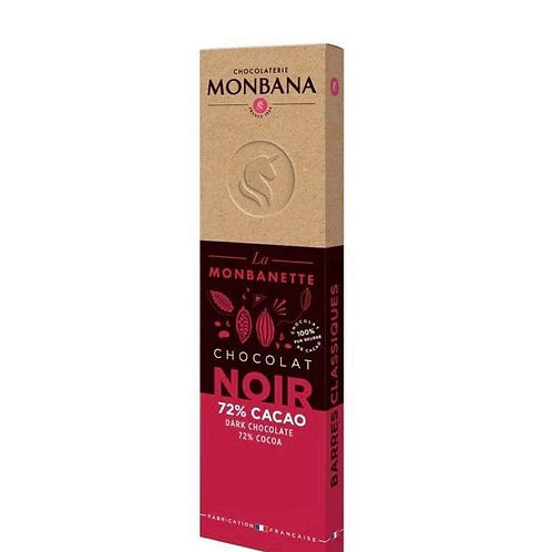 Barre chocolat noir 72% cacao