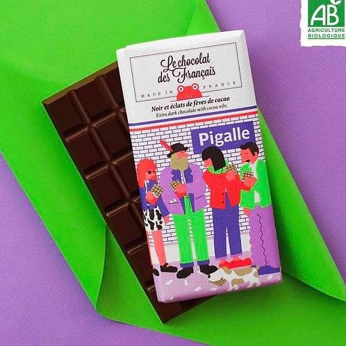 Tablette chocolat noir et éclats de fèves de cacao