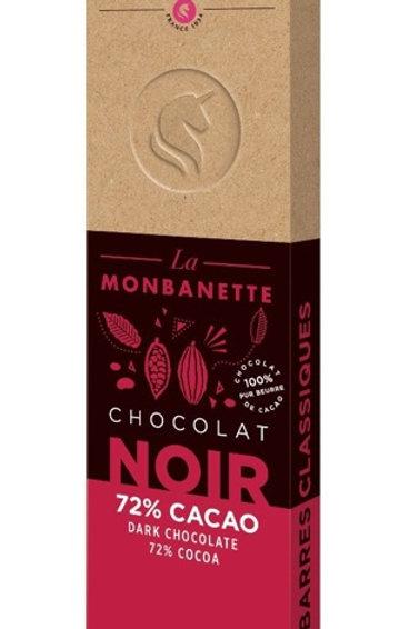 Tablette de chocolat noir 72% monbana