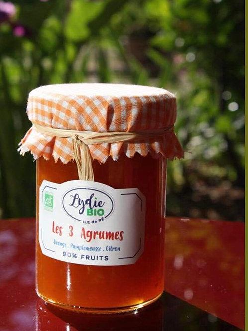 Confiture trois agrumes du jardin de Lydie
