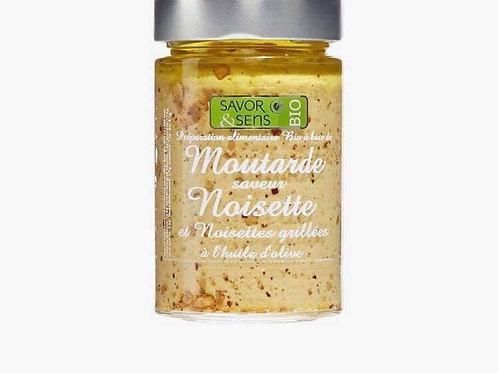 """Moutarde bio aux noisettes grillées """" Savor and Sens"""""""