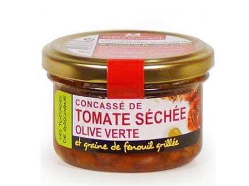 Concassé tomate séchée, olive verte et fenouil