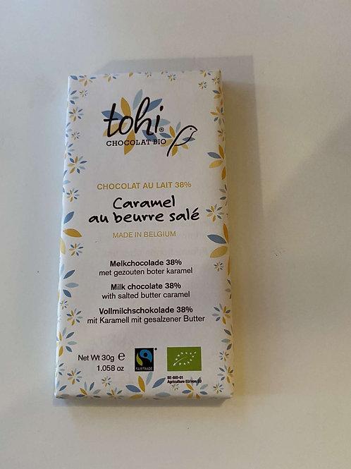 Tablette chocolat bio lait caramel beurre salé