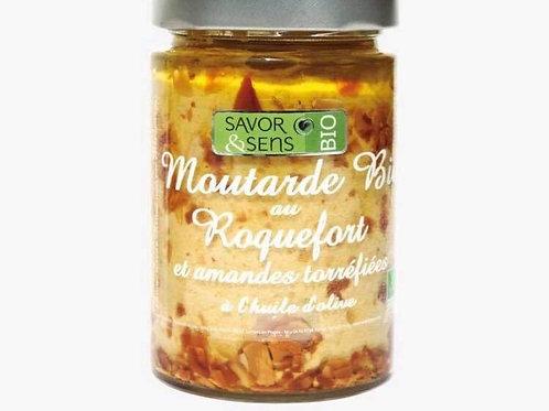 Moutarde bio au roquefort et amandes» Savor and sens»