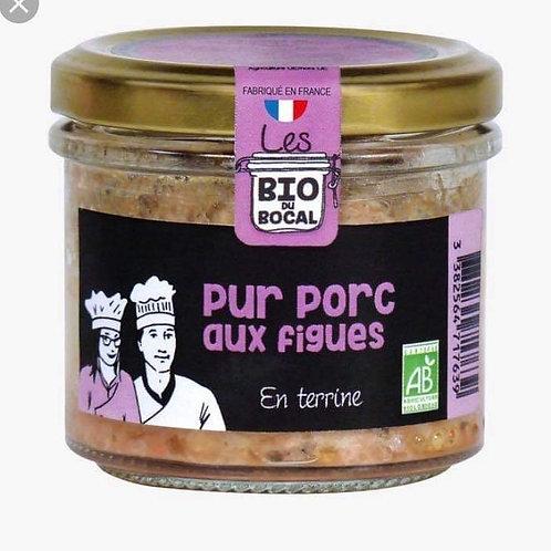 Tartinable bio pur porc et aux figues